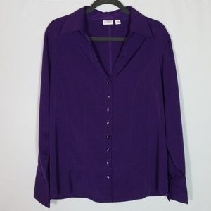 Cato Woman Button Down Blouse Top Size 14 / 16 W